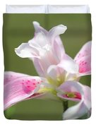 Double Oriental Lily Named Magic Star Duvet Cover