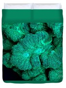 Fluorescent Coral In Uv Light Duvet Cover