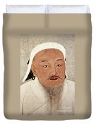 Genghis Khan (1162-1227) Duvet Cover