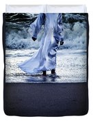 Girl At The Sea Duvet Cover