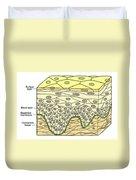 Illustration Of Stratified Squamous Duvet Cover