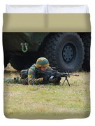 Infantry Soldiers Of The Belgian Army Duvet Cover