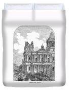 Manila: Earthquake, 1863 Duvet Cover