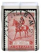 old Australian postage stamp Duvet Cover