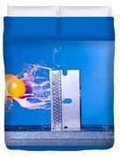 Paintball Shot At Razor Blade Duvet Cover