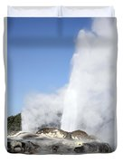 Pohutu And Prince Of Wales Feathers Duvet Cover