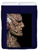 Revered  A Natural Portrait Bust Sculpture By Adam Long Duvet Cover