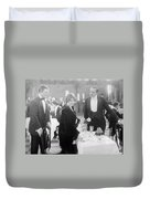 Silent Film: Restaurant Duvet Cover
