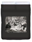 Silent Film Still: Picnic Duvet Cover