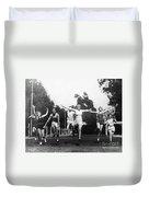 Silent Film Still: Sports Duvet Cover