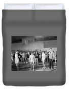 Silent Still: Exercise Duvet Cover