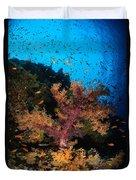 Soft Coral Seascape, Fiji Duvet Cover