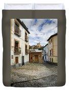 Street In Historic Albaycin In Granada Duvet Cover