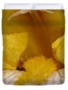 Tall Bearded Iris Named Butterfingers Duvet Cover