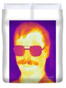 Thermogram Of A Man Duvet Cover
