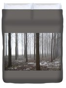 Trees With Fog Duvet Cover