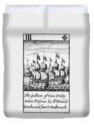 Spanish Armada, 1588 Duvet Cover
