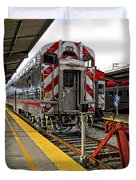 4th And King St. Caltrains Station - San Francisco Duvet Cover
