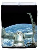 A Portion Of The International Space Duvet Cover