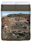 Abandoned Manganese Mine At Cape Vani Duvet Cover