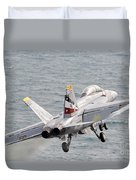 An Fa-18f Super Hornet Launches Duvet Cover