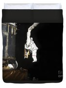 Astronaut Working On The Hubble Space Duvet Cover