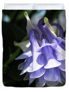 Double Columbine Named Light Blue Duvet Cover