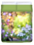 Flower Garden In Sunshine Duvet Cover