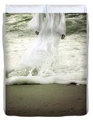 Girl At The Sea Duvet Cover by Joana Kruse