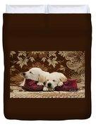 Goldidor Retriever Puppies Duvet Cover
