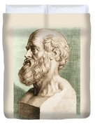 Hippocrates, Greek Physician Duvet Cover