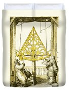 Johannes Hevelius, Polish Astronomer Duvet Cover by Science Source