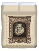 Miguel De Cervantes Duvet Cover