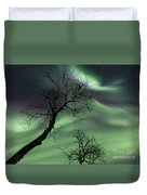 Northern Lights In The Arctic Duvet Cover