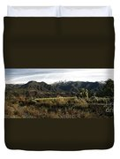 Ojai Valley With Snow Duvet Cover