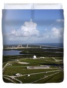 Space Shuttle Atlantis And Endeavour Duvet Cover