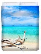 Tropical Beach Malcapuya Duvet Cover