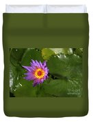Waterlily Opening Part Of A Series Duvet Cover