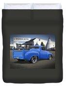 56 Studebaker At The Wigwam Motel Duvet Cover