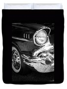 57 Chevy Black Duvet Cover by Steve McKinzie