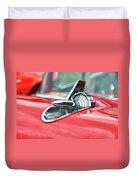 57 Chevy Hood Ornament 8509 Duvet Cover