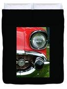 57 Chevy Left Front 8560 Duvet Cover