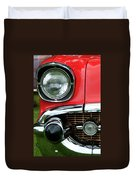 57 Chevy Right Front 8561 Duvet Cover