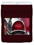 57 Chevy Tail Light Duvet Cover