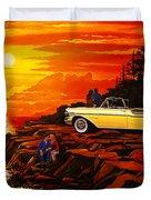 57 Merc Sunset Duvet Cover