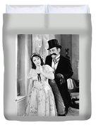 Silent Film Still: Couples Duvet Cover