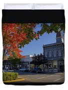 5th And G Street In Grants Pass With Text Duvet Cover