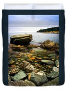 Atlantic Coast In Newfoundland Duvet Cover by Elena Elisseeva