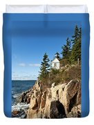 Bass Harbor Lighthouse Duvet Cover