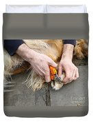 Dog Grooming Duvet Cover